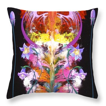 Throw Pillow featuring the painting Spark Of Nature by Alan Johnson