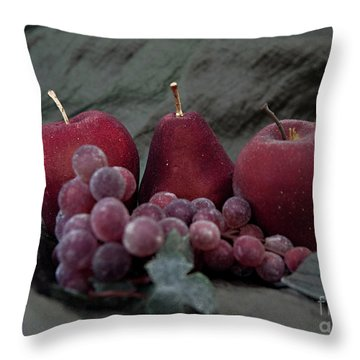 Throw Pillow featuring the photograph Sparkeling Fruits by Sherry Hallemeier
