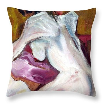 Sparkle - Female Nude Throw Pillow