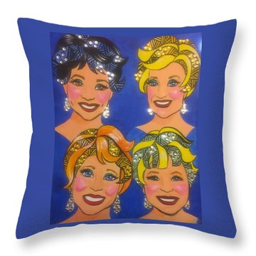 Sparkle Throw Pillow by Marilyn Jacobson