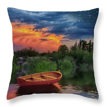 Sparkle Pond Throw Pillow