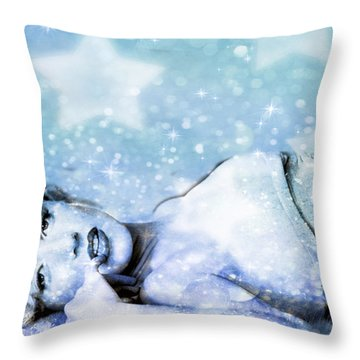 Throw Pillow featuring the digital art Sparkle Queen by Greg Sharpe