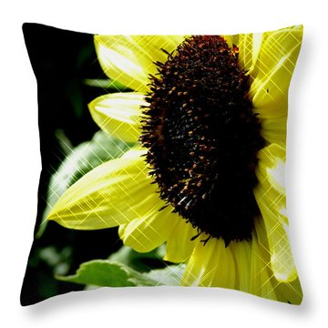 Sparkle Sunflower Throw Pillow