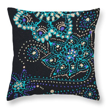 Midnite Sparkle Throw Pillow
