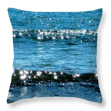 Sparkle Waves  Throw Pillow