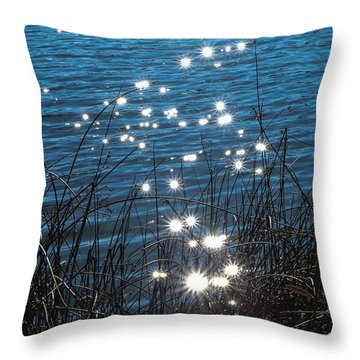 Throw Pillow featuring the photograph Sparkles At Riverbend Ponds by Monte Stevens