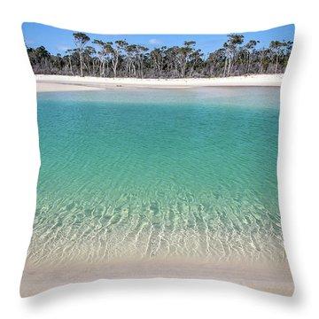 Sparkling Beach Lagoon On Deserted Beach Throw Pillow