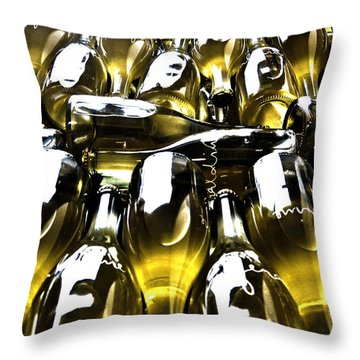 Sparkling Bottles Throw Pillow