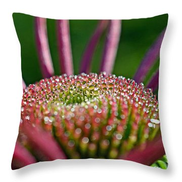 Throw Pillow featuring the photograph Sparkling Dew by Lila Fisher-Wenzel