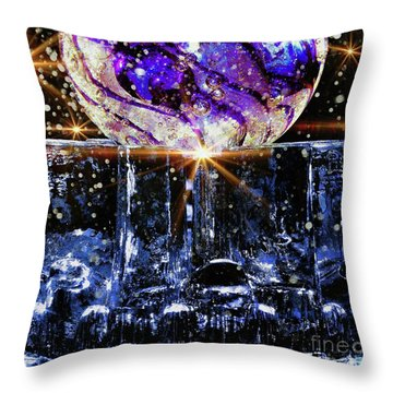 Sparkling Glass Throw Pillow