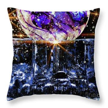 Sparkling Glass Throw Pillow