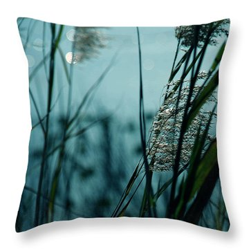 Sparkling Lights Throw Pillow by Susanne Van Hulst