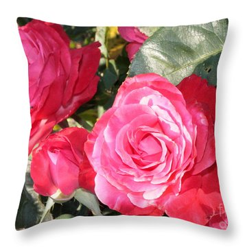 Sparkling Roses Throw Pillow by Carol Groenen