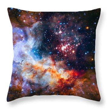 Sparkling Star Cluster Westerlund 2 Throw Pillow