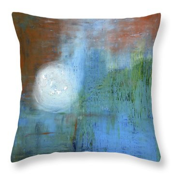 Throw Pillow featuring the painting Sparkling Sun-rays by Michal Mitak Mahgerefteh