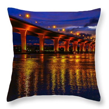 Sparkling Water Throw Pillow by Tom Claud