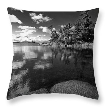 Clouds In Georgian Bay Throw Pillow by Charline Xia