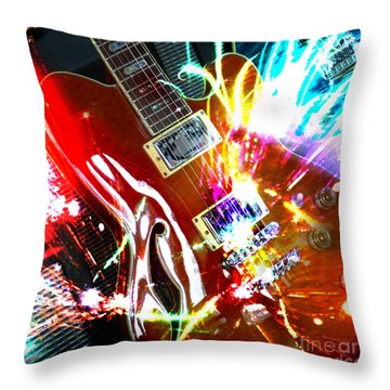 Throw Pillow featuring the photograph Sparks Fly by LemonArt Photography