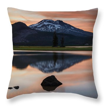 Sparks Lake At Sunset Throw Pillow