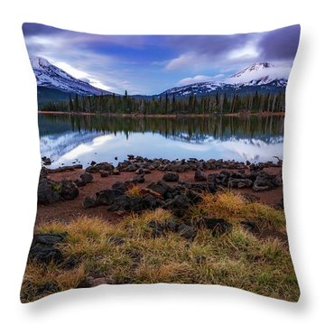 Throw Pillow featuring the photograph Sparks Lake by Cat Connor