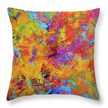 Sparks Of Consciousness Modern Abstract Painting Throw Pillow