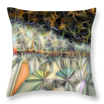 Throw Pillow featuring the digital art Sparks by Ron Bissett