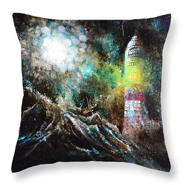 Sparks - The Storm At The Start Throw Pillow