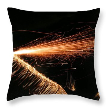Sparks Will Fly Throw Pillow by Kristin Elmquist