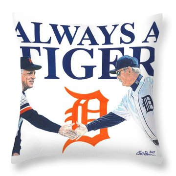 Sparky Anderson And Jim Leyland Throw Pillow