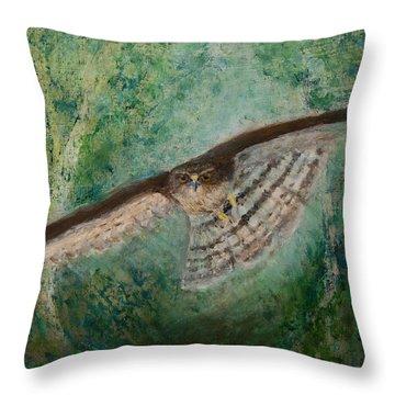 Sparrowhawk Hunting Throw Pillow