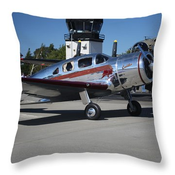 Spartan Executive With B17 Flying Fortress Memorial Day Weekend 2015 Throw Pillow
