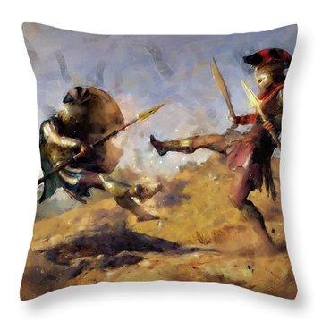 Spartan Hoplite - 12 Throw Pillow