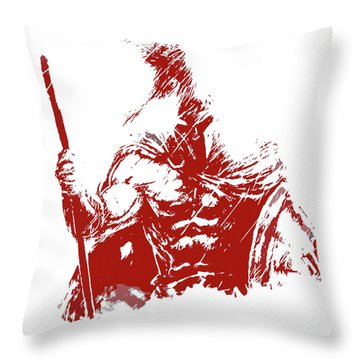 Spartan Warrior - Battleborn Throw Pillow