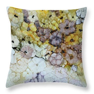 Throw Pillow featuring the painting Spash Of Sunshine by Joanne Smoley
