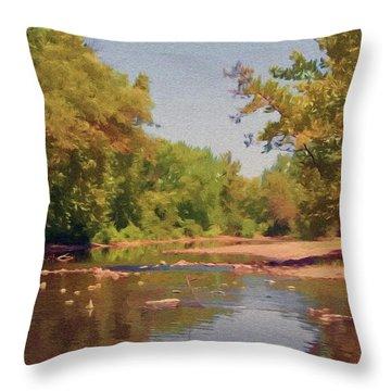 Spavinaw Creek Throw Pillow
