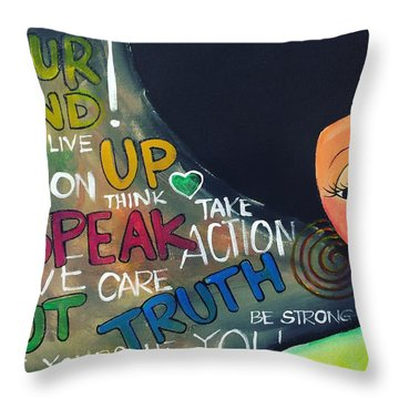 Speak Throw Pillow