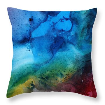 Speak To Me 3 Throw Pillow by Megan Duncanson