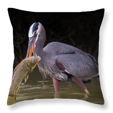 Spear Fisher Throw Pillow
