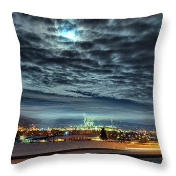 Spearfish Under The Moon Throw Pillow