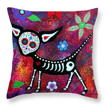 Throw Pillow featuring the painting Special Perrito by Pristine Cartera Turkus