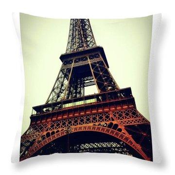 Classic Eiffel Tower Throw Pillow