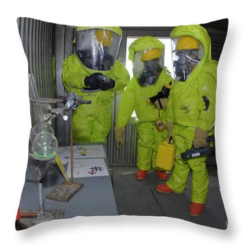 Specialists Survey A Simulated Area Throw Pillow by Stocktrek Images
