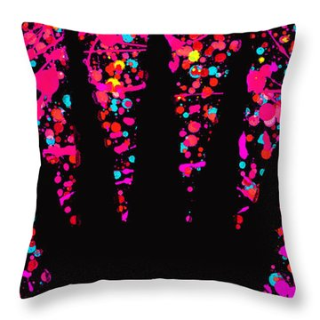 Speck Of Time Pink Throw Pillow
