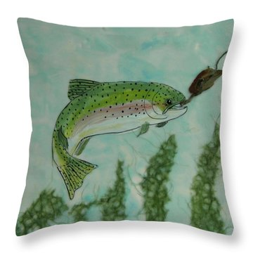 Speckled Throw Pillow by Terry Honstead