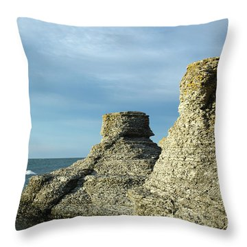 Throw Pillow featuring the photograph Spectacular Eroded Cliffs  by Kennerth and Birgitta Kullman