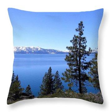 Spectacular Lake Tahoe Throw Pillow