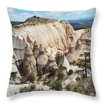 Spectacular Slot Canyon Trail View-at-the-top Throw Pillow by Cindy Croal