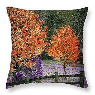 Spectral Autumn Throw Pillow