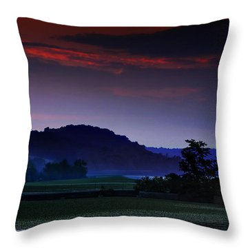 Spectral Crossing Throw Pillow
