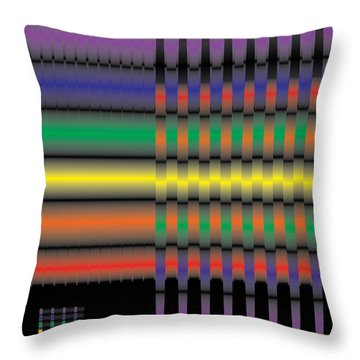 Spectral Integration Throw Pillow by Kevin McLaughlin